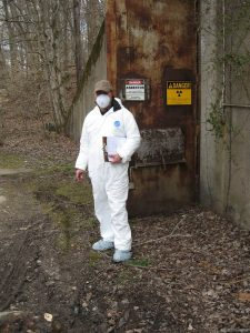 phil at nuclear weapons storage bunker